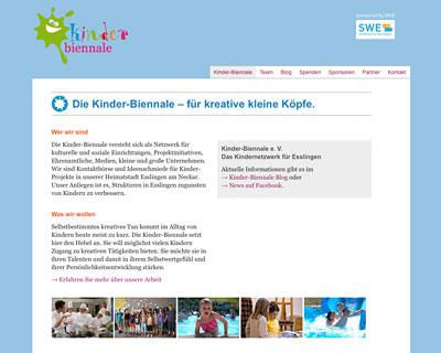 Kinder-Biennale Webseite