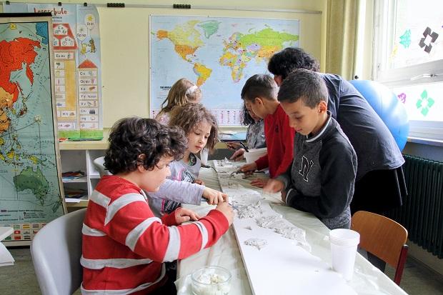 Kunstprojekt an der Grundschule Pliensauvorstadt