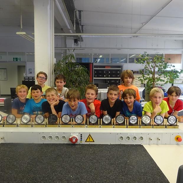 Hier gibt's was zum Lachen: Beim Technik-Projekt der Esslinger Kinder-Biennale
